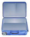 Empty suitcase illustration. An illustration of an empty suitcase ready to b packed for a summer holiday or vacation Stock Image
