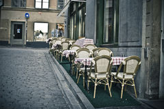 Empty summer cafe Royalty Free Stock Photo