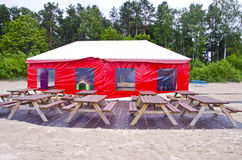 Free Empty Summer Sea Resort Beach Cafe Stock Images - 30085734