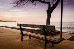Empty Summer Vacation Area In Winter Royalty Free Stock Images