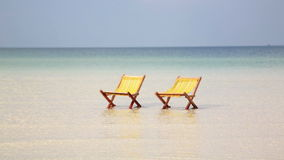 Empty sunbed inviting you to holiday, cambodia stock video footage