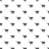 Empty supermarket cart pattern vector Stock Photo