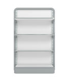 Empty Supermarket Shelf. 3d illustration Royalty Free Stock Photo
