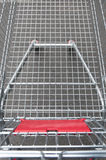 Empty supermarket shopping cart Royalty Free Stock Image