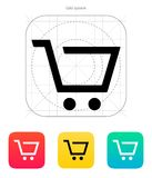Empty supermarket shopping cart  icon. Stock Photos