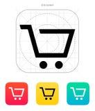 Empty supermarket shopping cart icon. Vector illustration royalty free illustration