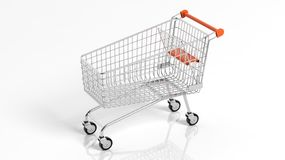 Empty supermarket shopping Stock Photo