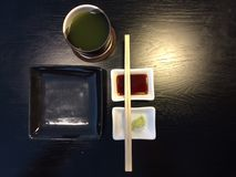 Empty Sushi dish with seasoning Royalty Free Stock Photography