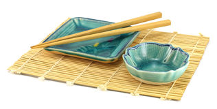 Empty sushi plates. Stock Photography