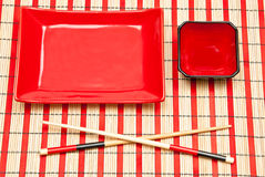 Empty sushi set Stock Images