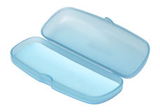 Empty sweet blue glasses box Royalty Free Stock Images