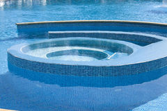 Empty swimming pool. Bright solar day royalty free stock photos