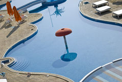 Empty swimming pool. In Bulgarian hotel Royalty Free Stock Photo