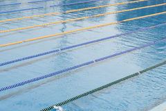 Empty swimming pool. Clean empty public swimming pool Royalty Free Stock Photo