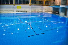 Empty swimming pool, clear water surface. royalty free stock photos