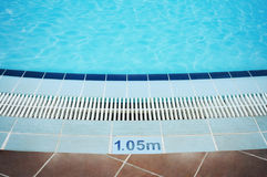 Empty swimming pool in holiday resort. Stock Image