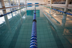 Empty swimming pool with lane markers Royalty Free Stock Images
