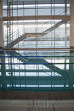 Empty swimming pool with lane markers Stock Photography