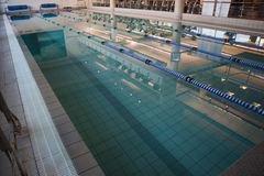 Empty swimming pool with lane markers Stock Image