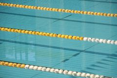 Empty swimming pool lanes Stock Photo
