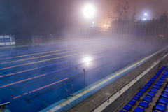 Empty swimming pool with mineral water Royalty Free Stock Photo