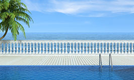 Empty swimming pool near the sea Royalty Free Stock Photography
