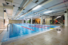 Empty swimming pool in sport club Stock Photography