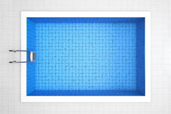 Empty Swimming Pool Top View Stock Images