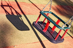 Empty swing Stock Photography