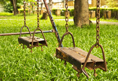 Empty Swing Set Royalty Free Stock Photos