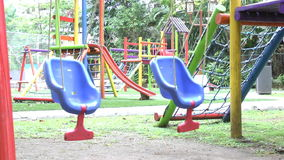 Empty swing set. stock video footage