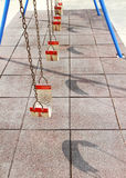 Empty swing set Royalty Free Stock Photography