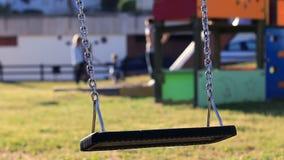 Empty Swing Swinging stock video footage