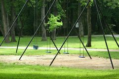 Empty Swings Royalty Free Stock Photography