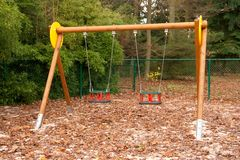 Empty swings Royalty Free Stock Photo