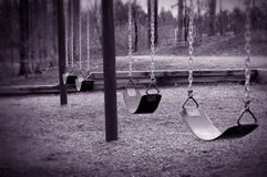 Empty Swings Stock Images