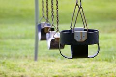 Empty Swings 2 Royalty Free Stock Images