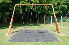 Empty swings Royalty Free Stock Images