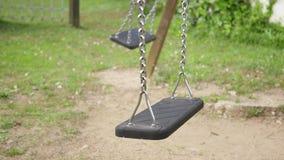 Empty Swings Swinging stock footage