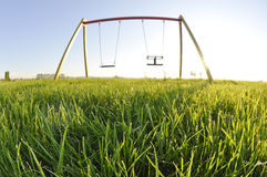 Empty swingset Stock Photography
