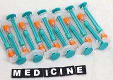 Empty syringes Stock Photos