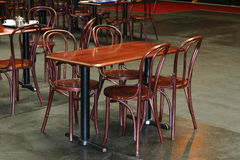 Empty Table. An empty table and chairs in a cafe stock photography