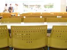Free Empty Table And Chairs That Nobody Sit In The Cafeteria Stock Photography - 133094882
