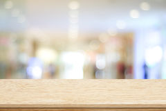 Empty table and blurred store bokeh background Stock Photography