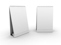 Empty table calendar template Royalty Free Stock Images