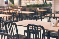 Empty table and chair in restaurant Stock Images