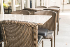 Empty table and chair Royalty Free Stock Image