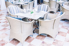 Empty table and chair Royalty Free Stock Photos