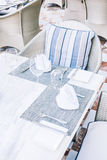 Empty table and chair Royalty Free Stock Images