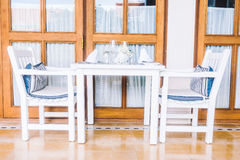 Empty table and chair Royalty Free Stock Photo